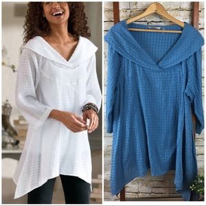 Soft Surroundings Tidal Top and Cami Blue L
